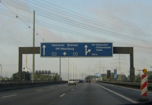 Autobahn A7 in Hamburg
