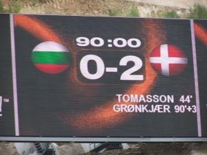 Bulgaria-Denmark 0-2 in Portugal 2004