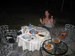Dinner at casa particular in Cienfuegos, Cuba