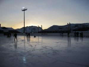 Ice skating ring in Alpe d'Huez