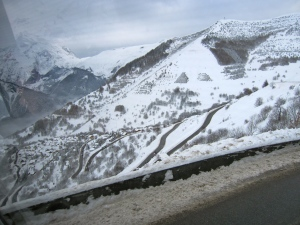 Hairpin bends at Alpe d'huez