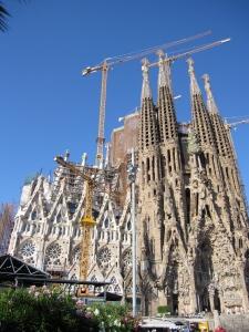 La Sagrada Familia in Barcelona, August 2011