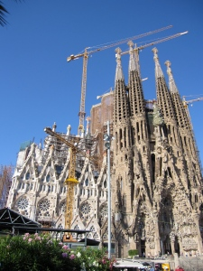 La Sagrada Familia in Barcelona, August 2011