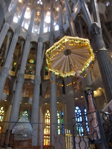 The apse inside La Sagrada Familia