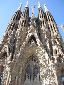 Nativity facade at La Sagrada Familia