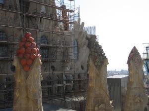 Fruit mosaics at La Sagrada Familia