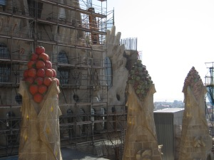 Fruit mosaics at La Sagrada Familia