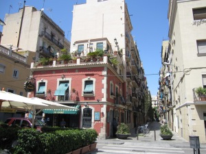 La Barceloneta with narrow streets