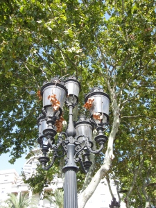 Lamp post at La Rambla