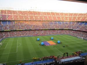 Warm-up show at Camp Nou