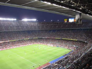 Action on Camp Nou