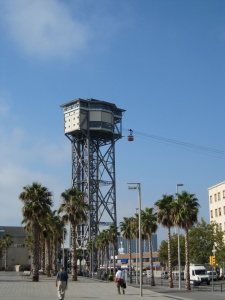 The cable car tower at Port Vell