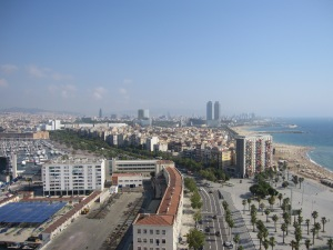 View over La Barceloneta