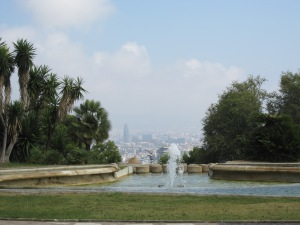 View over Barcelona from Montjuic