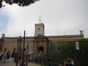The fortress on Montjuic in Barcelona