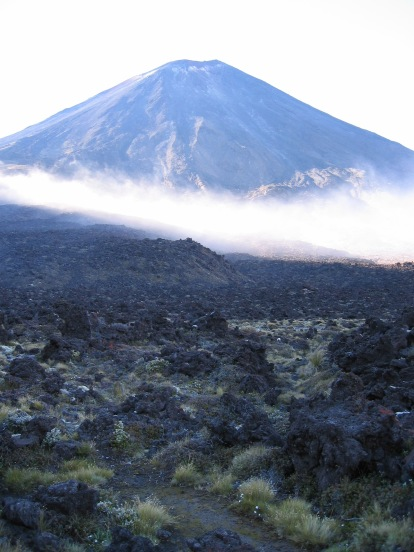 Mount Ngauruhoe / Mount Doom in the misty morning light