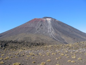 Mount Ngauruhoe in the sunshine