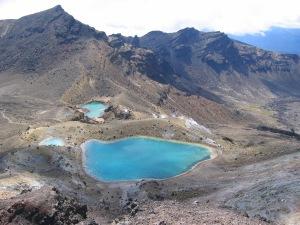 The Emerald Lakes at Tongariro Crossing