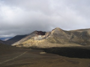 View to Red Crater over the Central Crater with lava flow